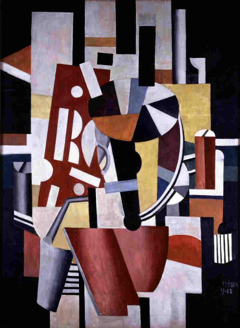 Fernand Léger's Composition (Le typographe) (Composition [The Typographer])Oil on canvas.