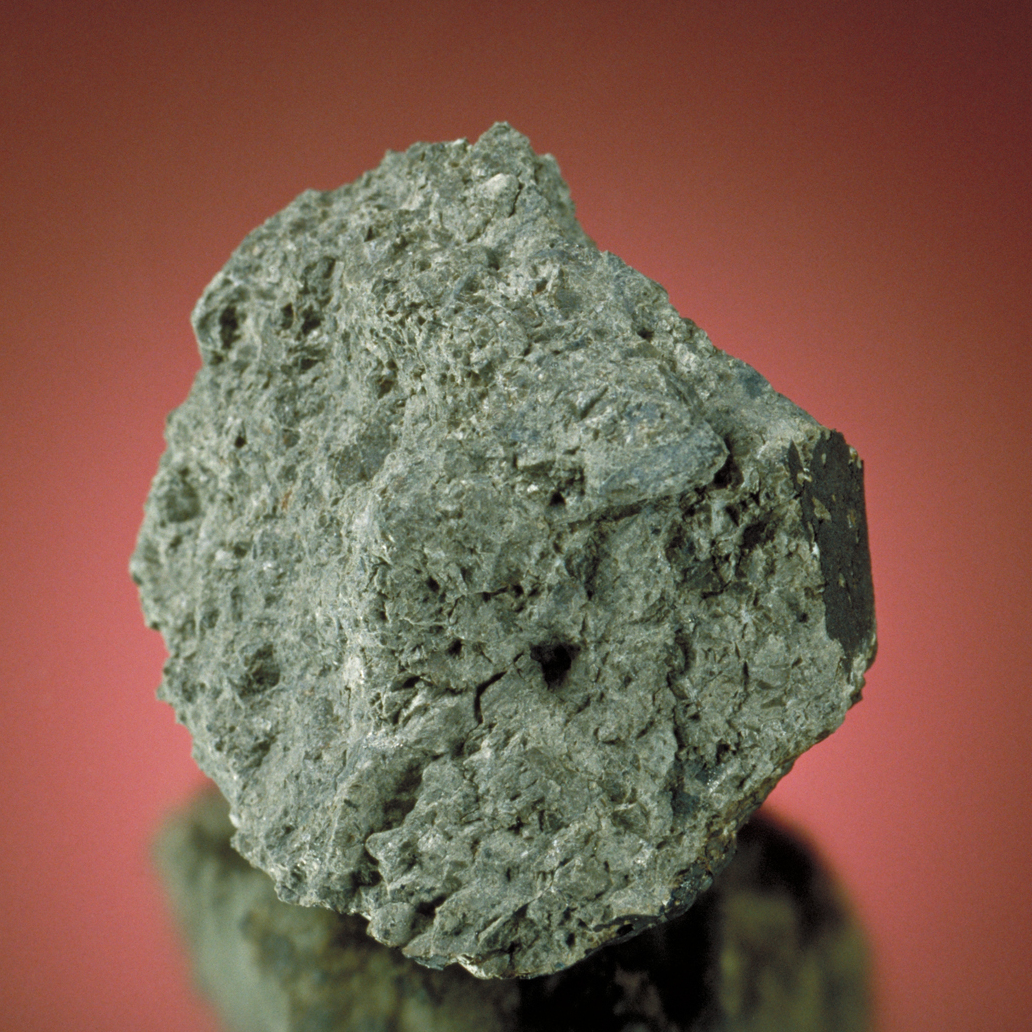 This chunk of Mars was found in Antarctica. Tiny quantities of gas trapped in the rock match with atmospheric samples taken by the Viking Lander that touched down on the red planet in 1976.