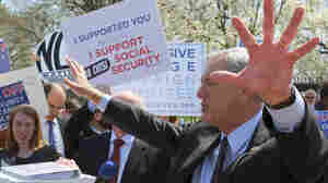 Opponents of President Obama's expected proposed changes to Social Security rallied at the White House on Tuesday. Among them were lawmakers like Minnesota Democratic Rep. Rick Nolan.