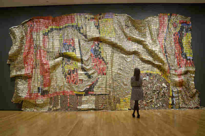 Earth's Skin by El Anatsui, 2007.