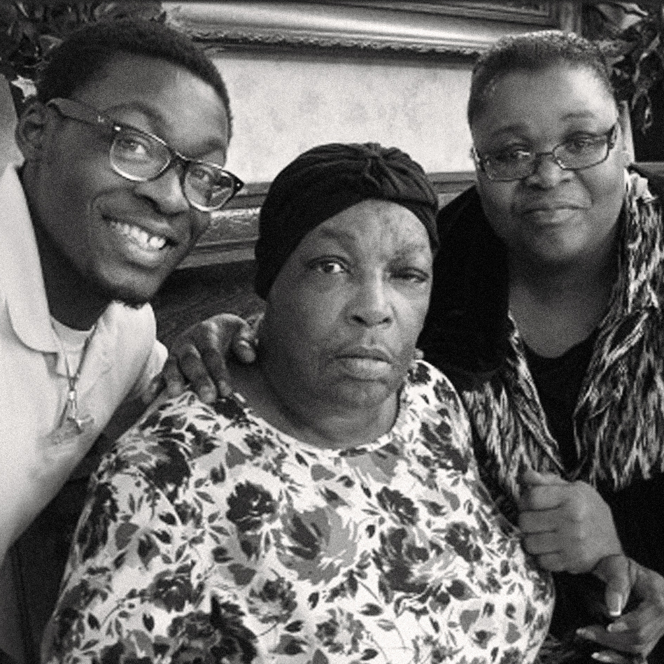 When Jim Crow laws ended, Shirley Cruel -- Queen's great-niece -- went back to school and became a social worker. Here, Cruel, who died at age 66 last April, is flanked by grandson Alvion Sampson and her daughter Kaye Sampson.