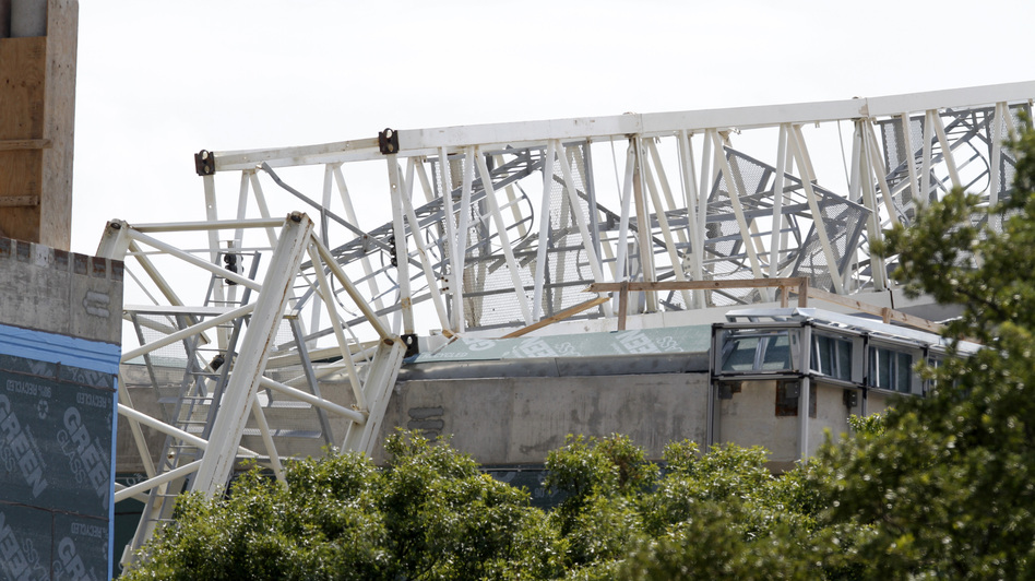 Two workers died when a crane collapsed under windy conditions at a University of Texas, Dallas, campus site in July 2012. OSHA cited the construction company with six serious safety violations and levied a $30,000 penalty.