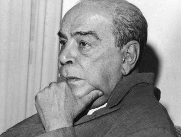 Venezuelan author Romulo Gallegos (1884-1969), circa 1950.