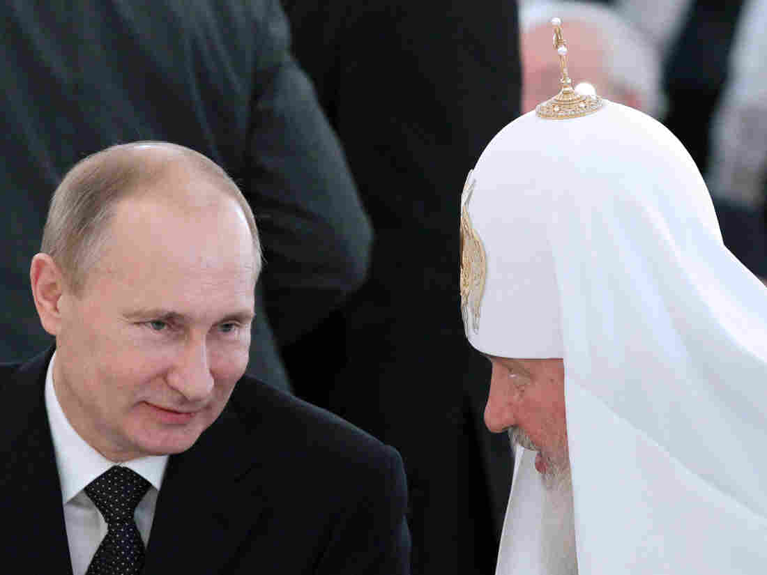 Russian President Vladimir Putin with Russian Orthodox Patriarch Kirill in November.