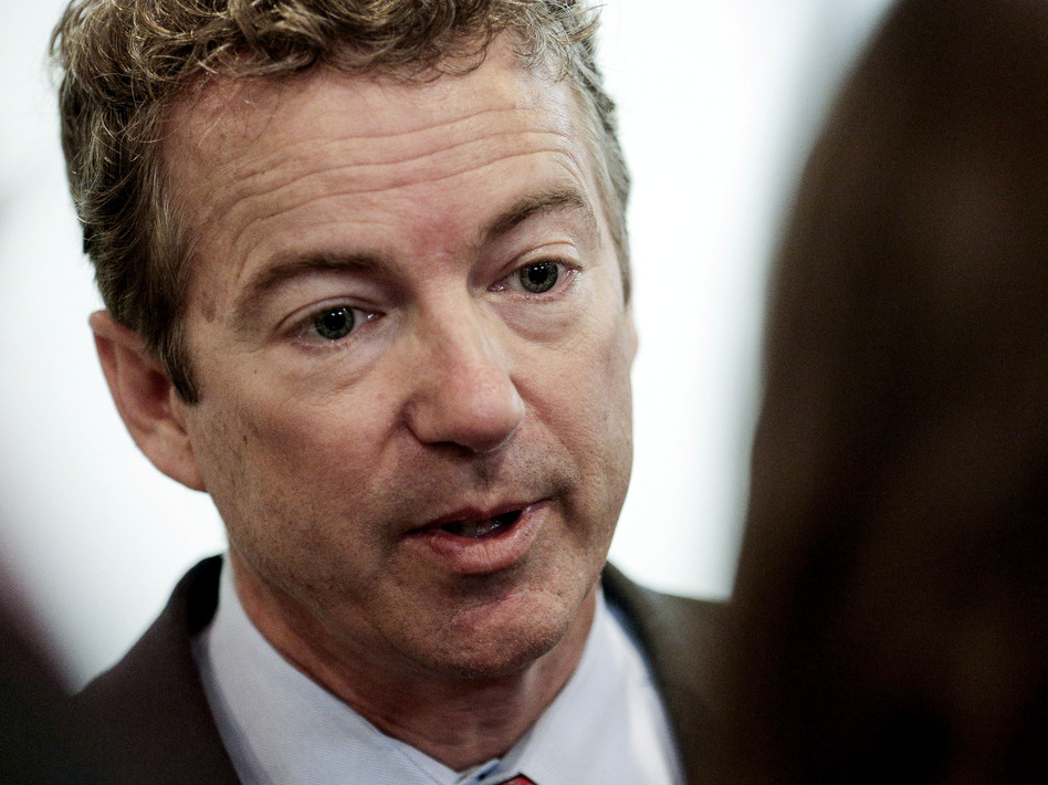 Sen. Rand Paul, R-Ky., shown Tuesday on Capitol Hill, told students at historically black Howard University on Wednesday that the GOP has worked to protect civil rights. (T.J. Kirkpatrick/Getty Images)