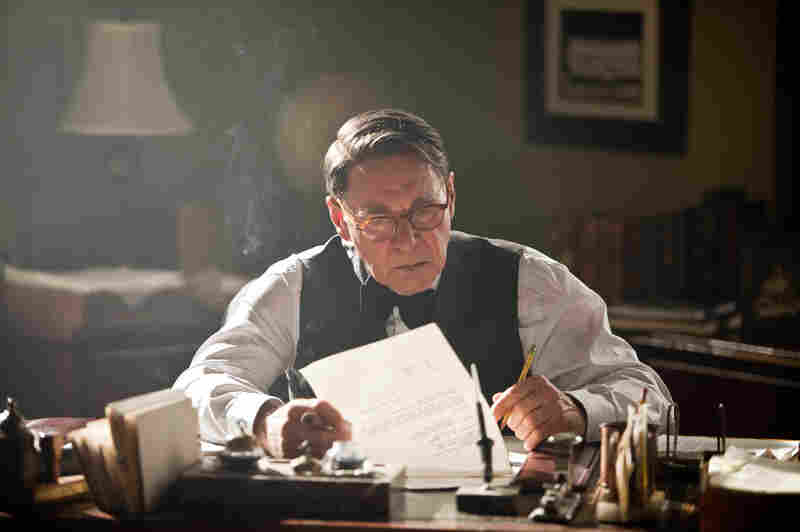 A heavily made-up Harrison Ford plays Brooklyn Dodgers manager Branch Rickey in 42. The real-life Rickey helped convince a wary Robinson that the time was right for a racially integrated major league.