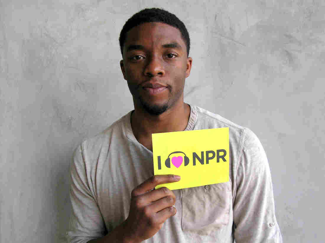 Chadwick Boseman at NPR West.