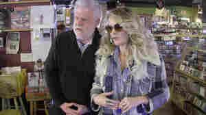 World Cafe hose David Dye and singer-songwriter Elizabeth Cook check out Grimey's Records in Nashville, Tenn.