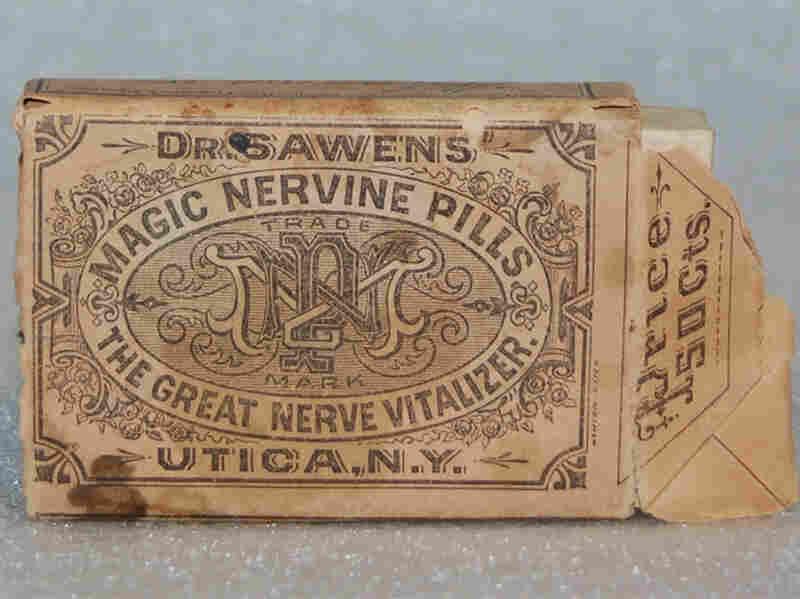 Dr. Sawen's Magic Nervine Pills contained calcium, iron, copper and potassium. Despite advertising claiming they were free of lead and mercury, both elements were found in the pills.
