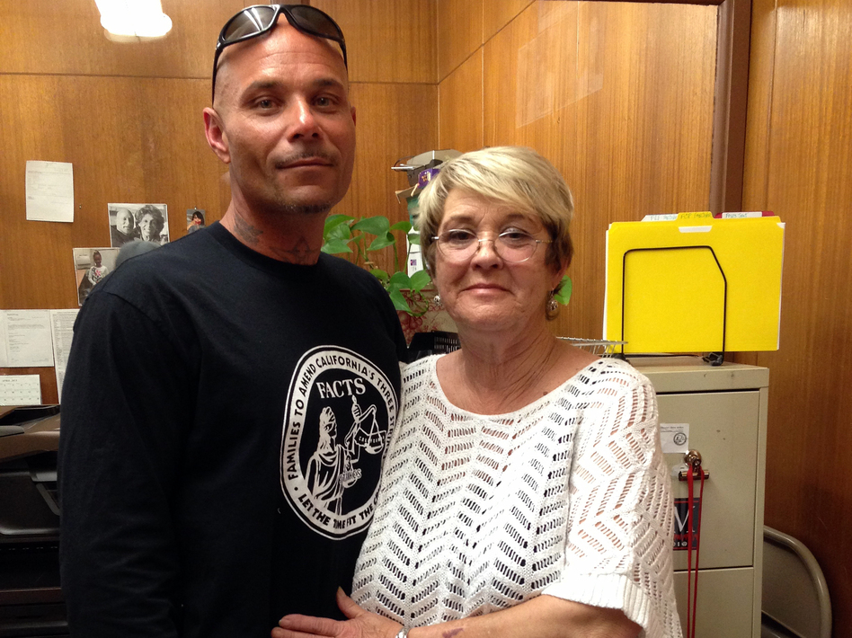 Sue Reams campaigned to change California's three-strikes law and help set free her son, Shane.