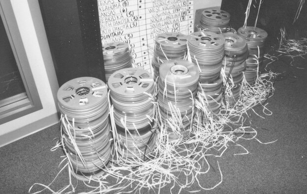 Reel-to-reel NPR audio tapes from the mid-1990s.