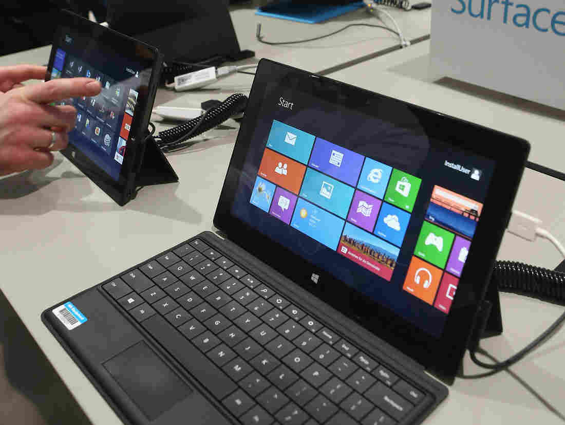 Visitors tried out Windows 8 last month at the 2013 CeBIT technology trade fair in Hanover, Germany.