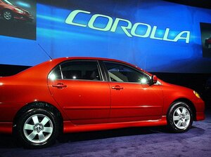 The 2002 Toyota Corolla. At least some of them are subject to recall.