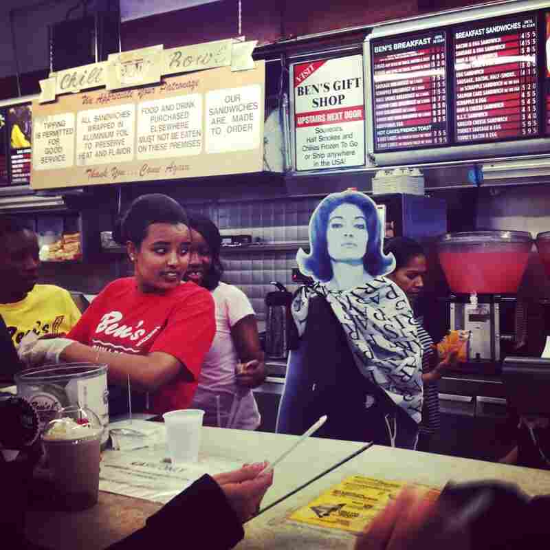 Experts say Callas' controversial weight loss, in 1953, may have affected her voice. But we spied her ordering a half-smoke and an Arnold Palmer at Ben's Chili Bowl.