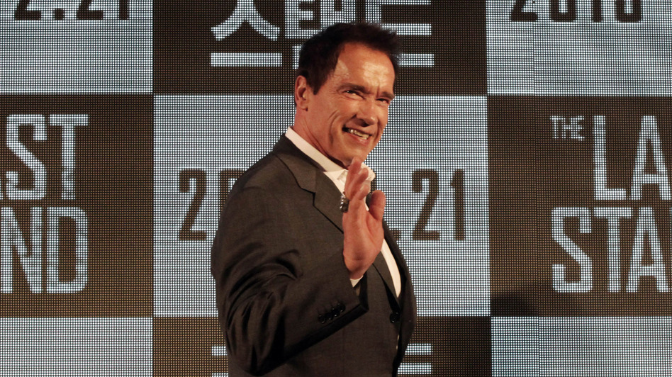 Arnold Schwarzenegger's political career had already tanked before he admitted to fathering a child out of wedlock. Now he's making movies such as The Last Stand. (AP)