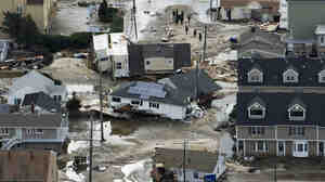 Oct. 31, 2012: Some of the destruction caused by Hurricane Sandy in Seaside Heights, N.J.