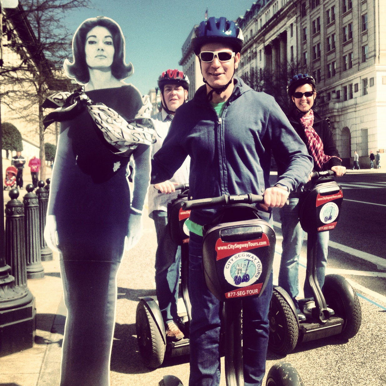 Having found her leading man gliding through the streets of Washington, Callas considers a role in a new opera performed entirely on Segways.