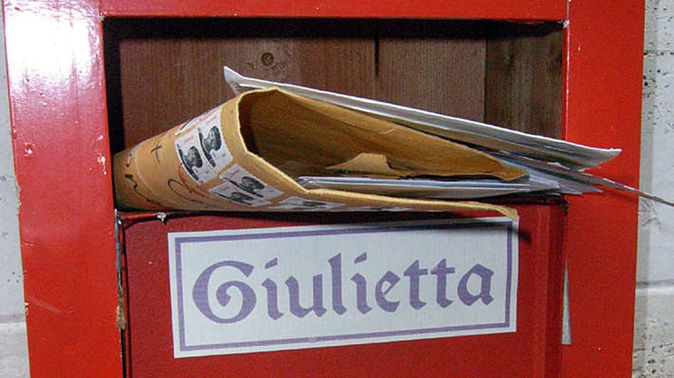 The Juliet Club (Club di Giulietta) mailbox in Verona, Italy. Volunteers answer by hand every single letter that the club receives. (Courtesy of the Juliet Club)