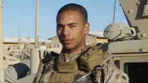 Staff Sgt. Daniel Hodd on deployment in Anbar Province, Iraq, 2008.