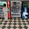 Farewell: the vending machines in the cafeteria at 635 Massachusetts Ave. NW.