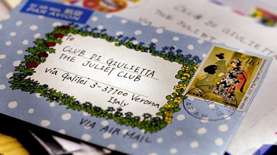 The Juliet Club (Club di Giulietta) receives more than 6,000 letters letters of heartbreak and unrequited love a year. Some envelopes include the club's address; others simply say To: Juliet. (Courtesy of the Juliet Club)