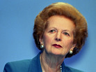 Former British Prime Minister Margaret Thatcher in 1996.