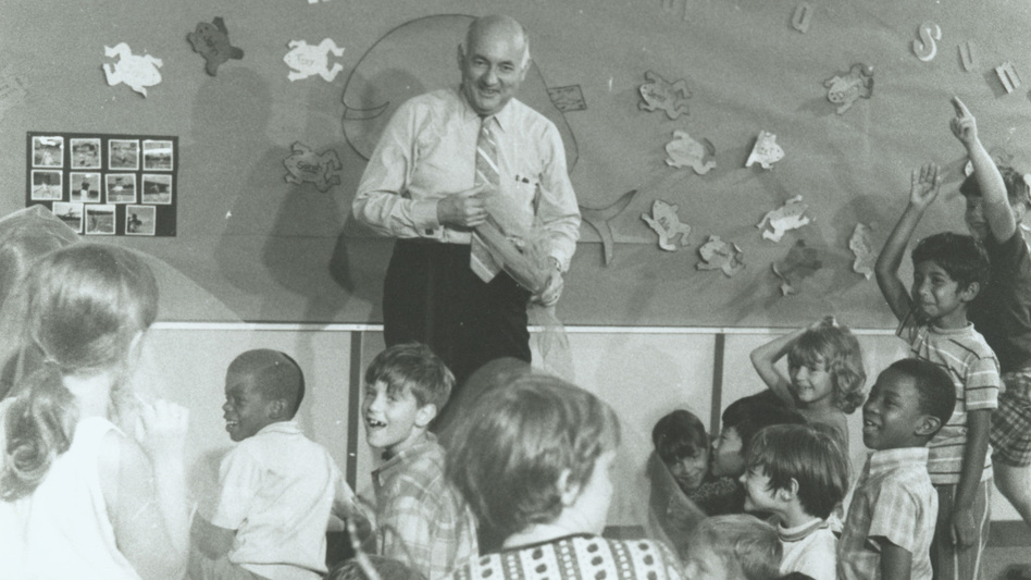 E. Paul Torrance, shown here in the mid-'80s, spent most of his career studying and encouraging students' creativity. (Courtesy University of Georgia)