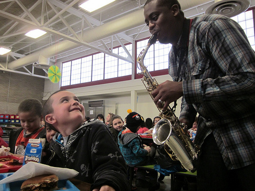 Jazz In The Cafeteria: Kids Learn To Listen While They Chomp
