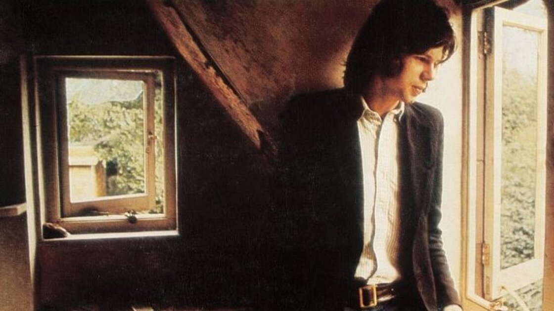 The cover photo from Nick Drake's 1969 debut, Five Leaves Left, produced by Joe Boyd.