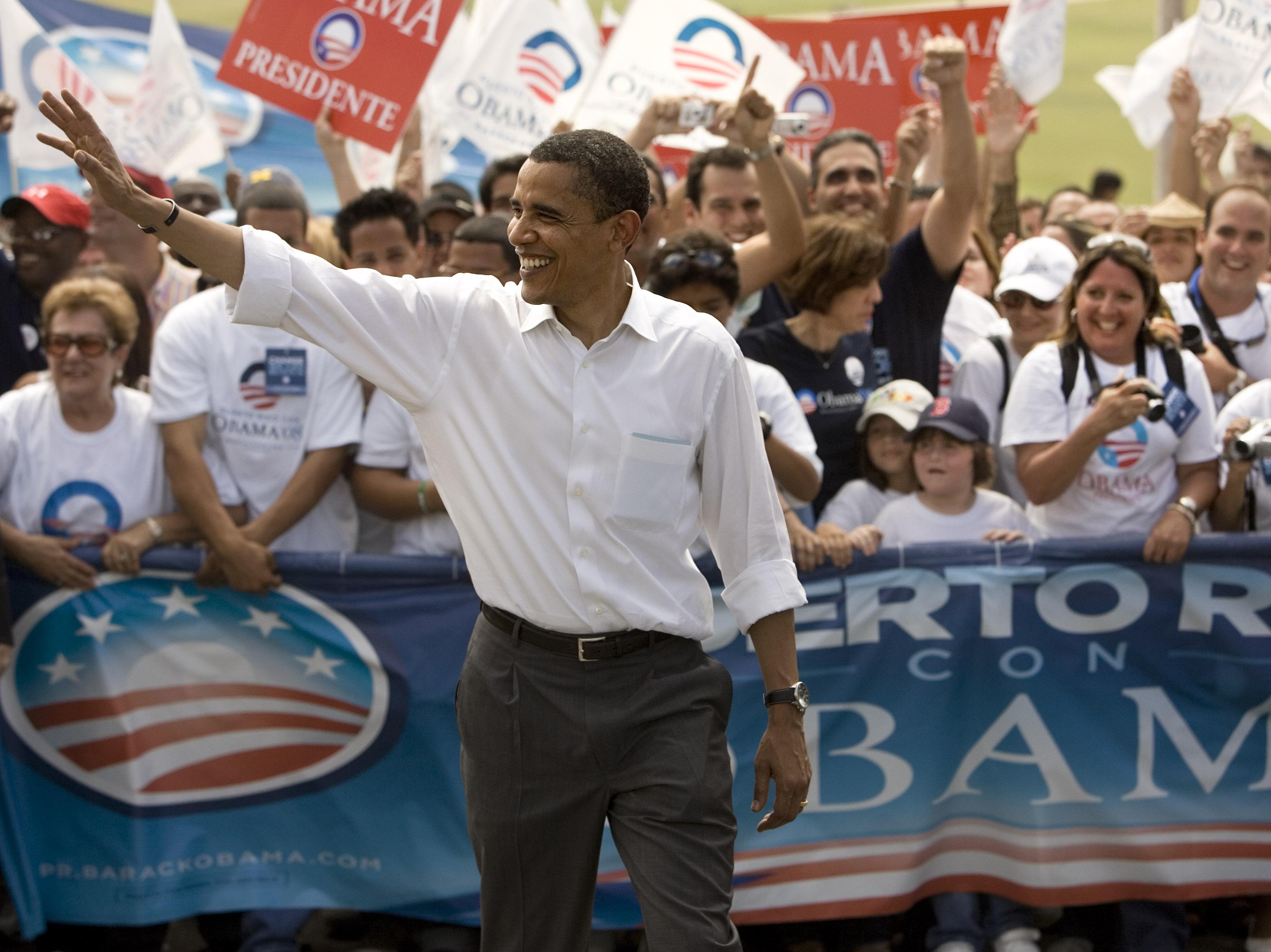 Then-Sen. Barack Obama