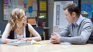 On shows like NBC's Community, cultural references come quickly. (Pictured: Gillian Jacobs and Joel McHale.)