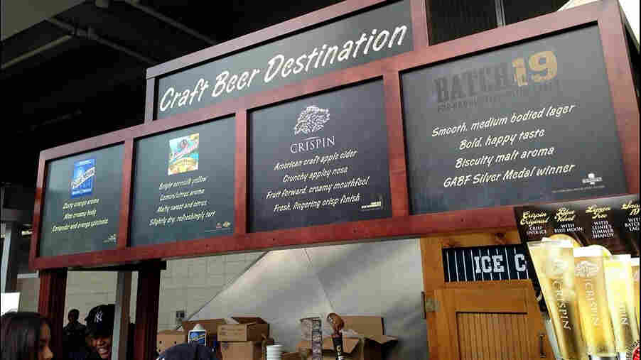 """The New York Yankees' """"Craft Beer Destination"""" met with derision online, after fans noted the beers were all MillerCoors products — and one of them is a cider. The stand now has a new title, the """"Beer Mixology Destination."""""""