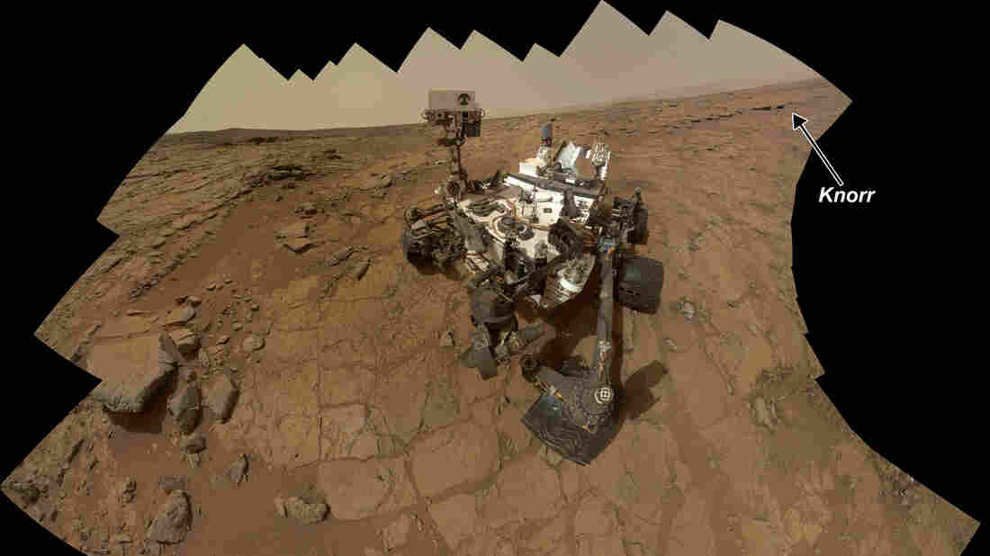 The rover Curiosity and other NASA spacecraft at Mars are now in a radio blackout, as the sun is interfering with transmissions. Curiosity took this self-portrait by combining 66 exposures in February.