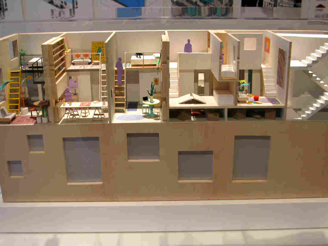 This housing model, showcased at the Museum of the City of New York, depicts possible space-saving methods in the city. Some housing experts say New York's zoning code has discouraged the building of affordable housing by requiring that all apartments be at least 400 square feet. The city is interested in finding ways to rewrite the rules.