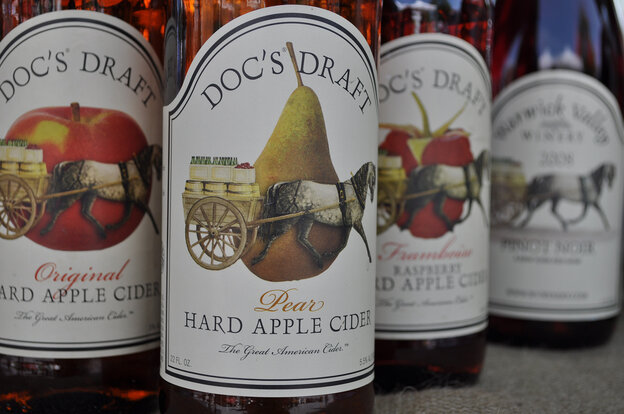 Doc's Draft hard cider, bottled in Warwick, N.Y., stands to benefit from new regulations proposed by Sen. Chuck Schumer, D-N.Y.