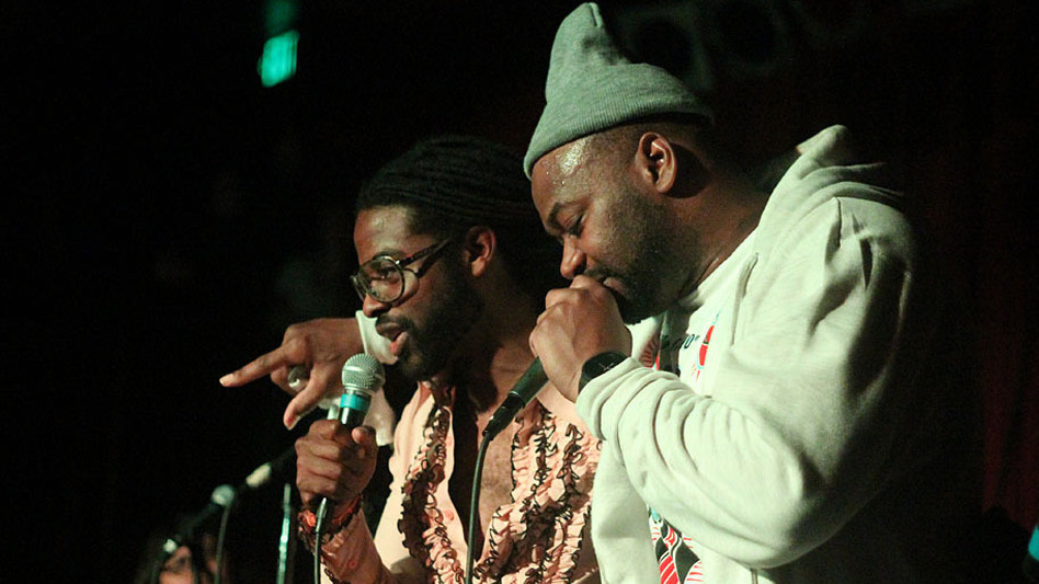 Adrian Younge (left) and Ghostface onstage at the Seattle stop of their tour last week. (Erich Donaldson)
