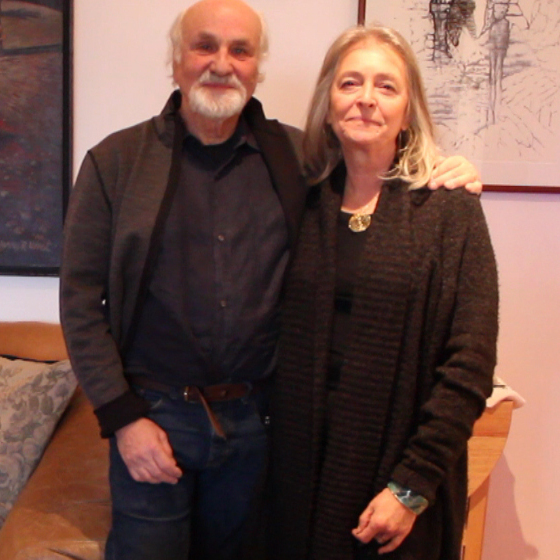 Morton Subotnick and Joan La Barbara in their New York City home.