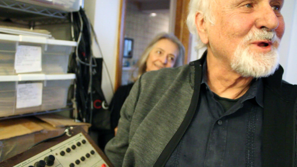 Morton Subotnick in his studio.