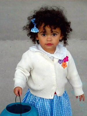 This October 2011 photo provided by Melanie Capobianco shows her adoptive daughter, Veronica, trick-or-treating in Charleston, S.C. The child has been the focus of a custody battle between her adoptive parents and her birth father.