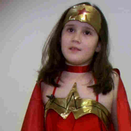 Katie, who's nine years old, explains her love of Wonder Woman in a new documentary.