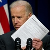 Vice President Joe Biden, holds a background check form last week in Washington, as he calls on Congress to pass legislation aimed at reducing gun violence.