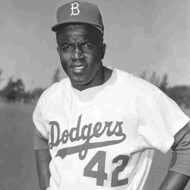 Jackie Robinson during spring training at Vero Beach, Fla., in March 1956. It would be Robinson's 10th and last year with the Brooklyn Dodgers.