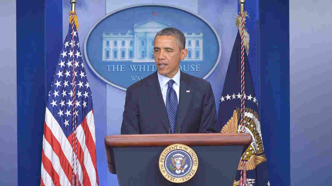 President Obama speaks on the Boston Marathon explosions on Monday at the White House in Washington, D.C.