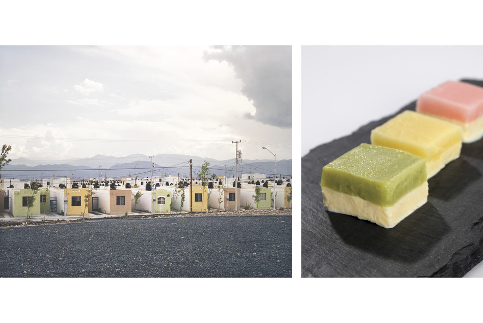 Alejandra Cartagena's photograph Fragmented Cities, Juarez #2 was the inspiration for Freeman's Cartagena vanilla ice cream and sorbet trio.