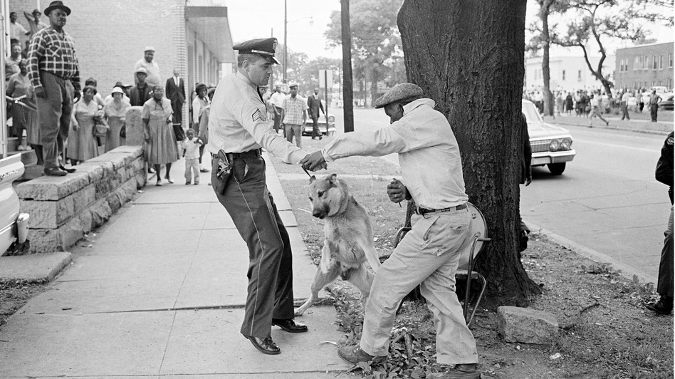 Alabama segregationist Bull Connor ordered police to use dogs and fire hoses on black demonstrators in May 1963. (AP)