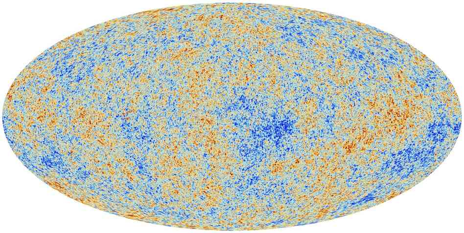 Cosmic microwave background radiation (CMB) as observed by Planck. The CMB is a snapshot of the oldest light in our Universe, imprinted on the sky when the Universe was just 380,000 years old.