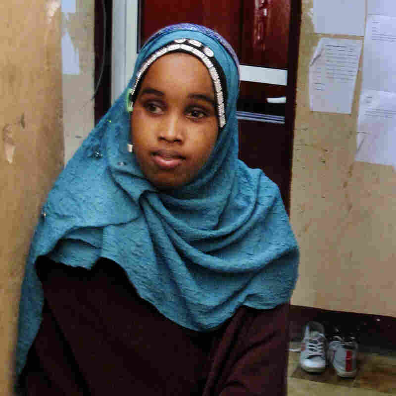 Reporter Donna Ali, 18, awaits her turn to go on air. Shabelle hires reporters as young as 15.