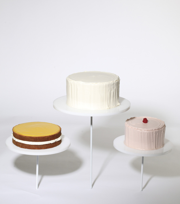 Freeman's take on Wayne Thiebaud's Display Cakes, the painting that inspired it all.