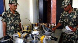 Confiscated pressure cooker IEDs in Malaysia.