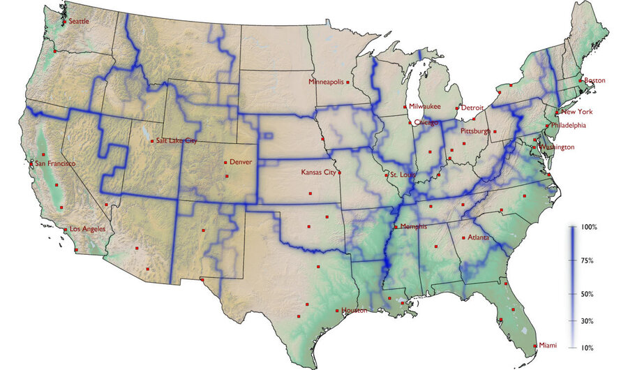 A Whom Do You Hang With Map Of America Krulwich Wonders NPR - Map of eastern half of us